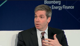 GE Energy Financial Services CEO, David Nason at Bloomberg New Energy Finance Summit 2018, NYC